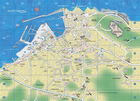 st tourist map tropez tourist map
