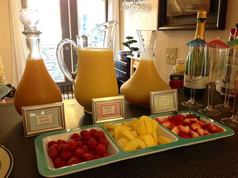ideas for brunch mimosa bar breads sweets breakfast