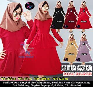 Gamis Payung Katun Mix Balotelly Gm1985 jilbab syar i murah gamis terbaru rok panjang dan celana