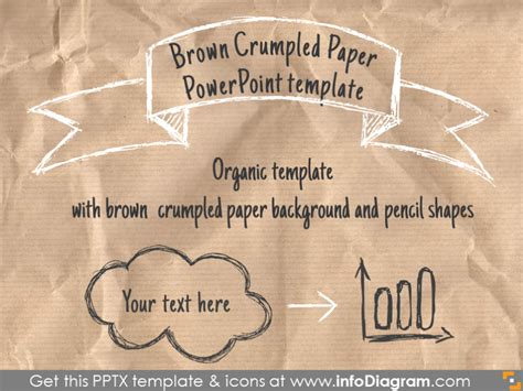 Brown Crumpled Recycled Paper Powerpoint Template Pptx Paper Powerpoint Template