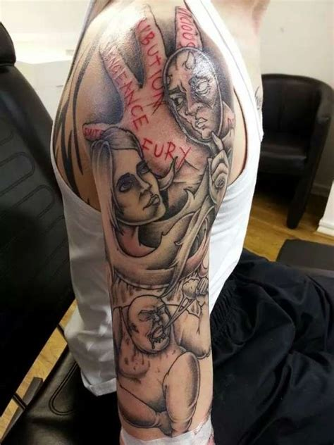 seven sins tattoo ongoing seven deadly sins sleeve