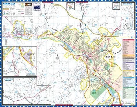 where is kerrville texas map kerrville texas maps by jcgraphix