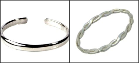 Can You Wear Sterling Silver In The Shower by Fitted Toe Rings In Gold And Sterling Silver For Your Toes