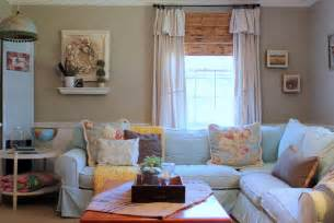 My houzz vintage farmhouse style shabby chic style living room