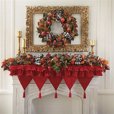 pattern for christmas mantel scarf enchanted christmas mantel scarf grandin road