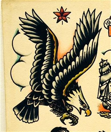 eagle nautical tattoo sailor jerry eagle tattoo tattoo ideas pinterest