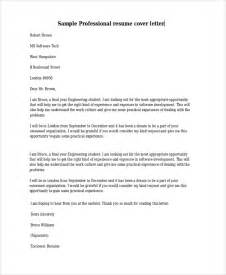 Professional Cover Letter Template Free by Sle Cover Letter Template 19 Free Documents