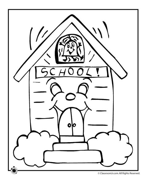 Coloring Page School | back to school coloring pages for kids coloring home