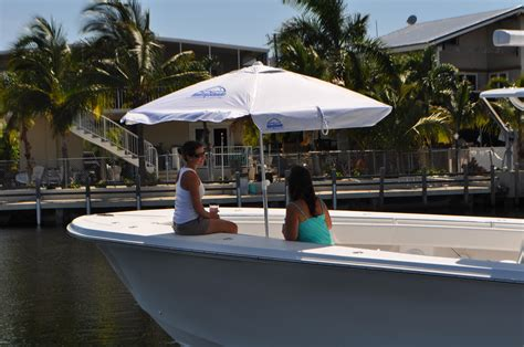 square boat hydra shade 8 square boating beach umbrella 4 piece kit