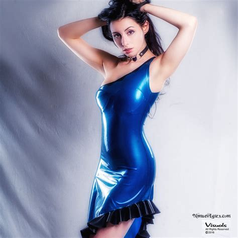 pattern latex dress asymmetrical dress