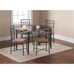 Kitchen Tables At Walmart 5 Wood And Metal Dining Set Espresso Nyfastfurniture