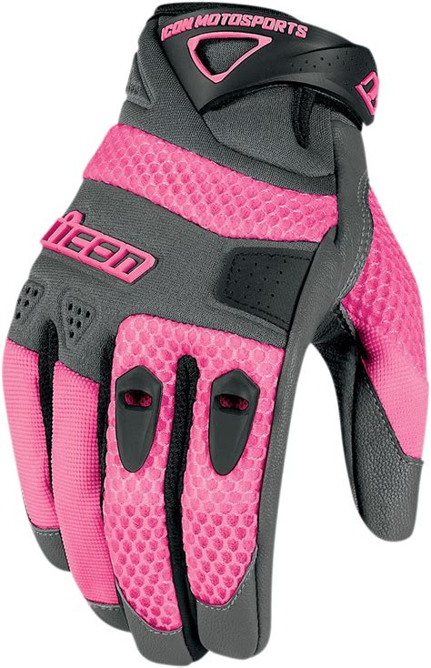 ladies motorcycle gloves icon anthem women s textile mesh motorcycle gloves pink