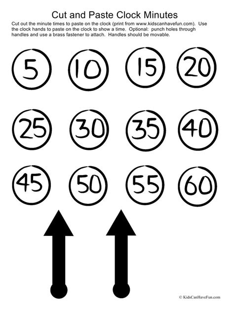 clock worksheets cut and paste cut and paste clock activity cut out minutes and clock