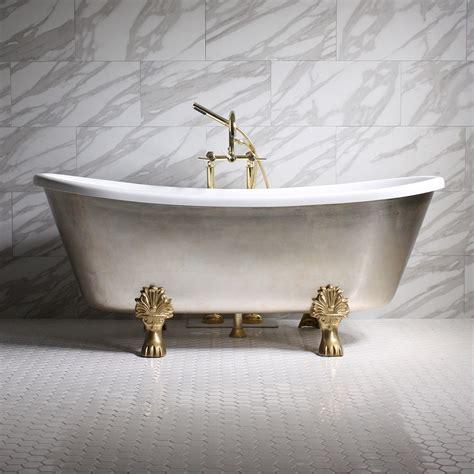 silver bathtub simona59 59 quot coreacryl white acrylic french bateau