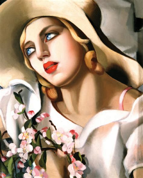 tamara de lempicka art tamara de lempicka straw hat art deco ladies and