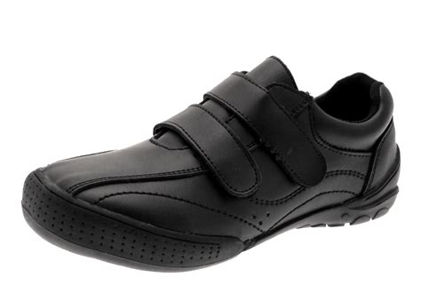 boys flat shoes boys black leather school shoes flat slip on formal