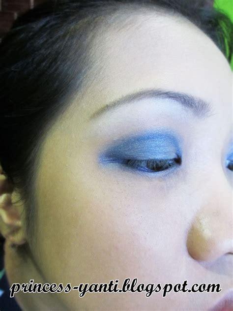 Eyeshadow Hitam princess yanti blue smokey biru mata hitam kuuu