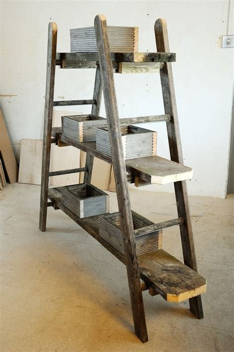 ladder plant stand extract  woodworking