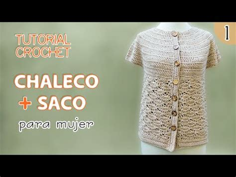 chaleco crochet para mujer abierto con botones paso a paso tutorial chaleco y saco para mujer tejidos a crochet 1 de