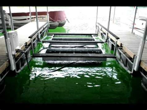 boat lift tritoon tri toon boat lift poly pneumatic youtube