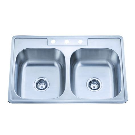 910 1 stainless steel drop in kitchen sink with two