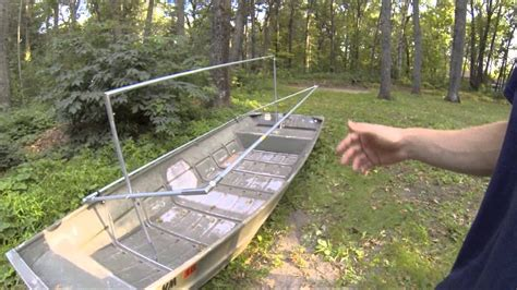 how to build a boat blind out of pvc how to build the diy rock solid duck boat blind kit set