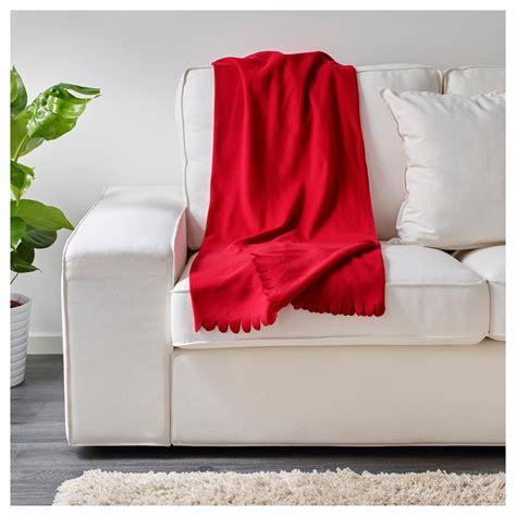 ikea blanket polarvide throw red 130x170 cm ikea