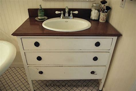 how to turn a dresser into a bathroom vanity turn a thrift store dresser into a bathroom vanity
