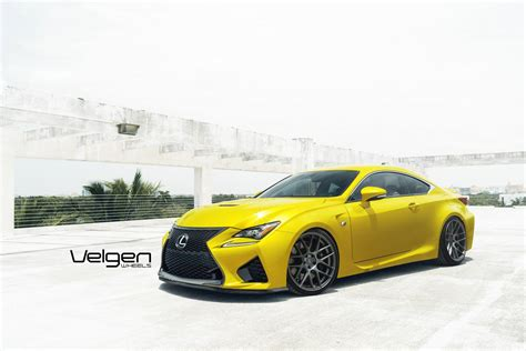 custom lexus rc lexus rc f sits on velgen wheels carz tuning