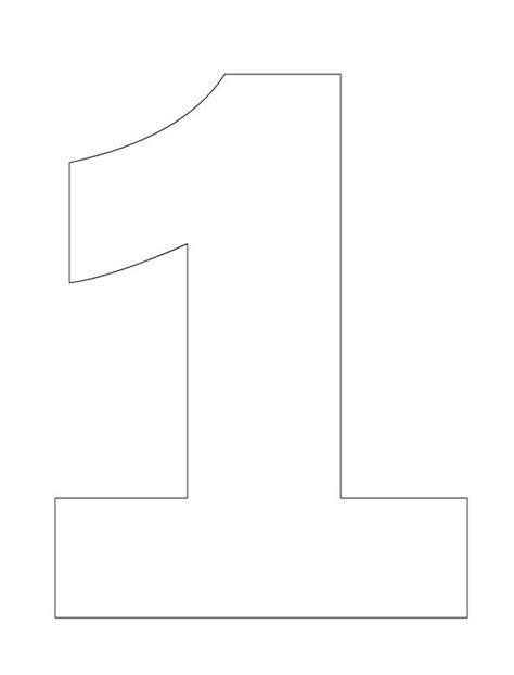 number 1 template coloring pages numbers 1 quot one quot