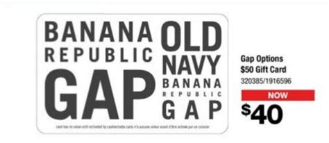 Gap Gift Card At Old Navy - staples 20 off gift cards to gap banana republic old navy and roots until aug 23