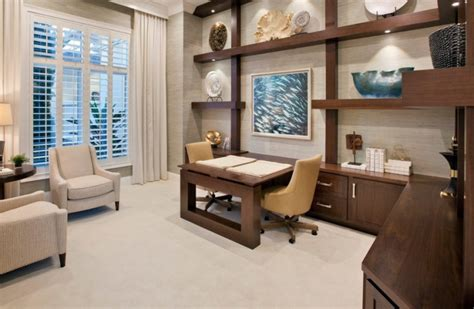 Built In Home Office Furniture 22 Home Office Furniture Designs Ideas Design Trends