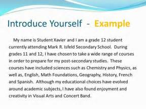 Essay About Your Self by How To Get Introduce Yourself Essay Sle News