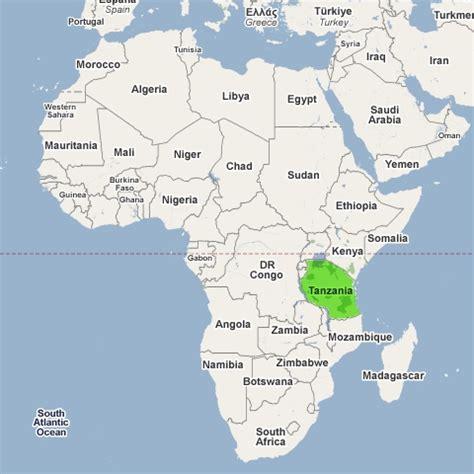 africa map tanzania map of tanzania africa