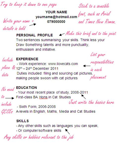 Writing Your First Resume No Job Experience by A Template Cv For Journalists