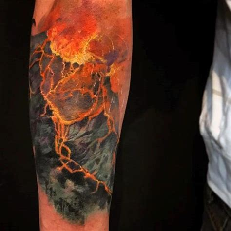 volcano tattoo 63 outstanding volcano made by ink