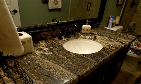 how to install kitchen sink granite bathroom countertop installing vanity install undermount