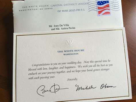 sending a wedding invitation to the white house friends in high places or what happens when you invite