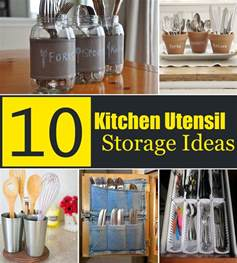 10 creative kitchen utensil storage ideas