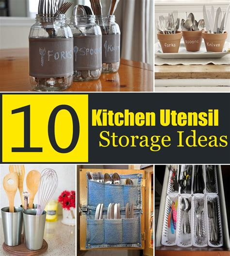 creative kitchen ideas 10 creative kitchen utensil storage ideas