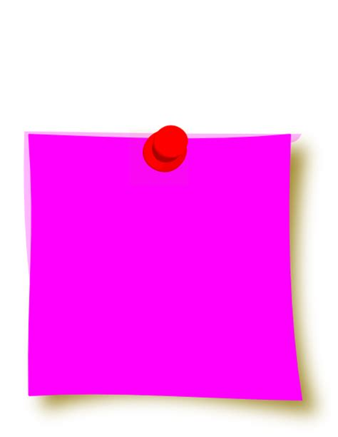 new pink sticky clip at clker vector clip royalty free domain