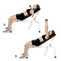 bench presses with dumbbells incline dumbbell bench press women s health magazine