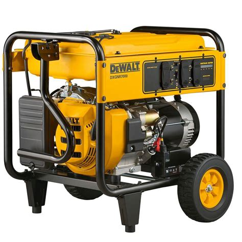 dewalt 7 000 watt gasoline powered electric start portable