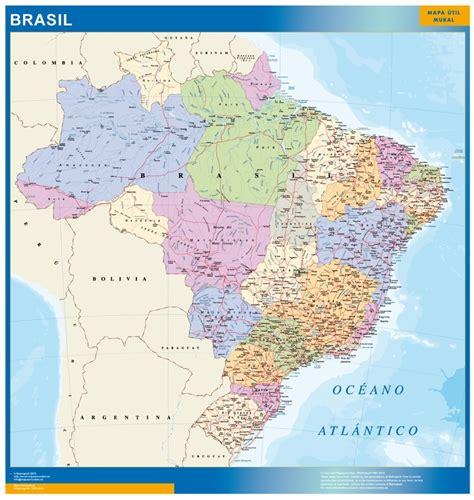 imagenes satelitales brasil mapas murais brasil emoldurado magnetico corti 231 a