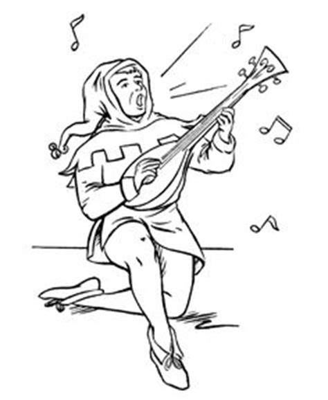 medieval women coloring pages | medieval fortress in
