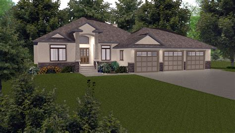 Bungalows 1600 To 1999 Sq Ft 4 By E Designs Bungalow 2 Car Garage House Plans