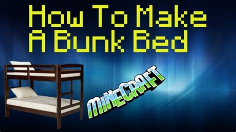 how to make a bed how to make bunk beds in minecraft pe youtube