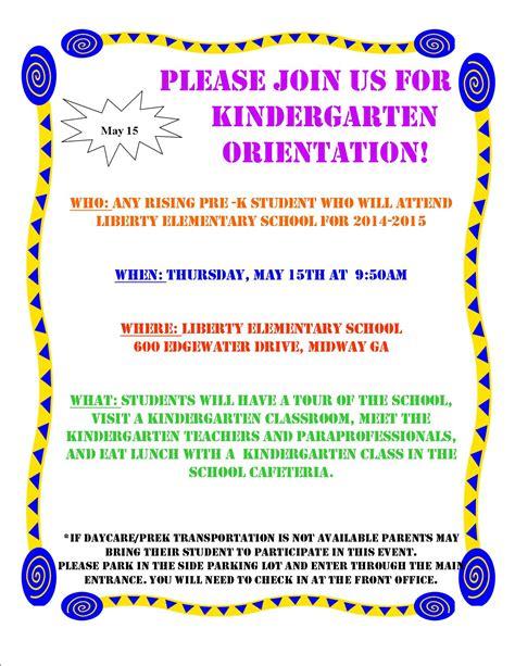 kindergarten flyer template 2014 kindergarten orientation daycare flyer images frompo