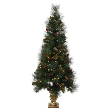 vickerman 334843 4 mixed pine 100 clear miniature