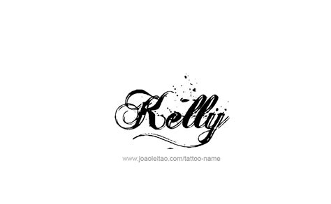 my name is kelly tattoo name designs